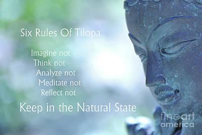 Photograph - Six Rules Of Tilopa by Agnieszka Ledwon