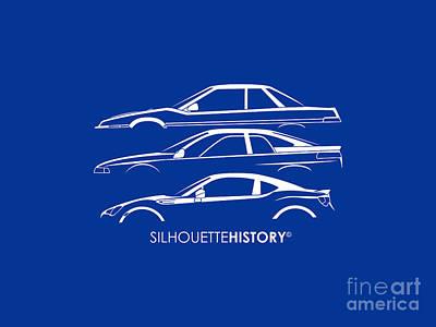 Six Stars Sports Coupe Silhouettehistory Art Print by Gabor Vida