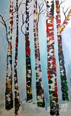 Painting - Six Tall Trees by Eunice Miller