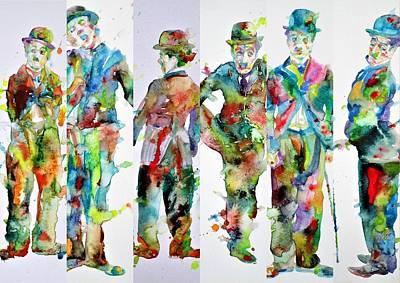Painting - Six Times Chaplin by Fabrizio Cassetta