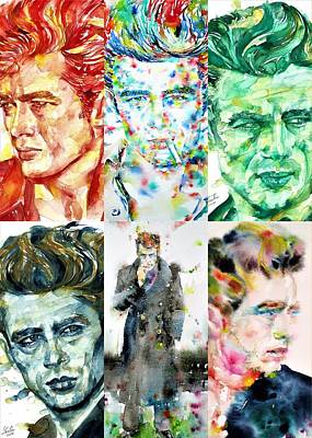 Painting - Six Times James Dean by Fabrizio Cassetta