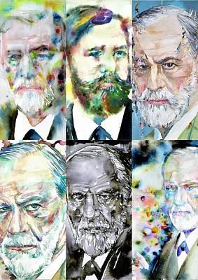 Painting - Six Times Sigmund Freud by Fabrizio Cassetta