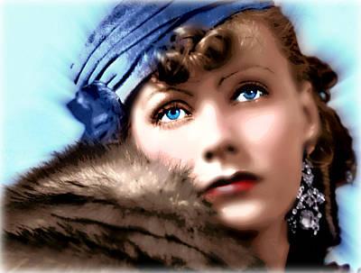 Greta Garbo Painting - Six Ways To Sunday by Wbk