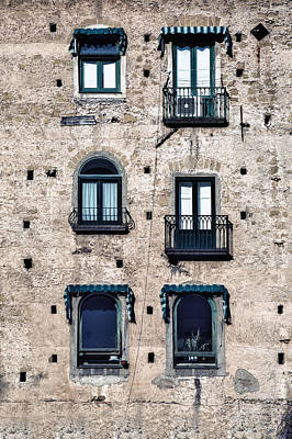 Old House Photograph - Six Windows by Joana Kruse