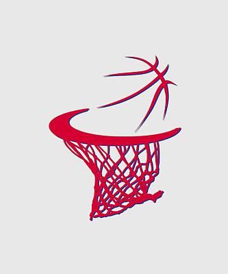 Sixers Basketball Hoop Art Print by Joe Hamilton