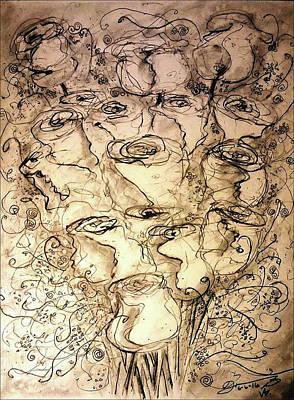 Kathleen Drawing - Sixteen 4 Kathleen by Jose A Gonzalez Jr