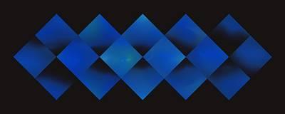 Digital Art - Sixteen Box Blue by Doug Morgan