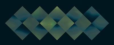 Digital Art - Sixteen Box Blue On Teal by Doug Morgan