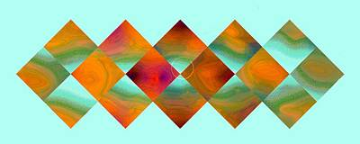 Digital Art - Sixteen Box Bright Parade Pastel-3 by Doug Morgan