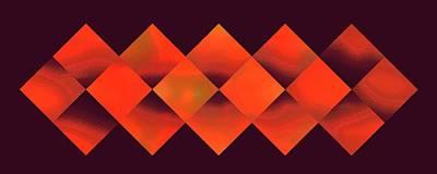 Digital Art - Sixteen Box Orange On Eggplant by Doug Morgan