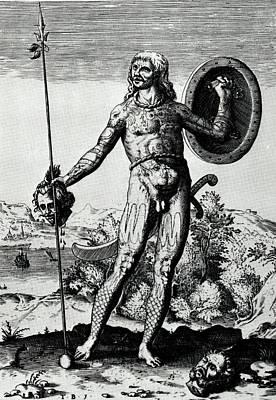 Drawing - Sixteenth Century Pictish Warrior by Peter Gumaer Ogden Collection