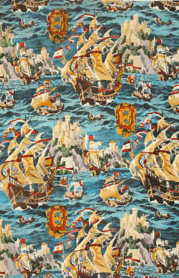 Of Pirate Ship Painting - Sixteenth Century Ships by Harry Wearne