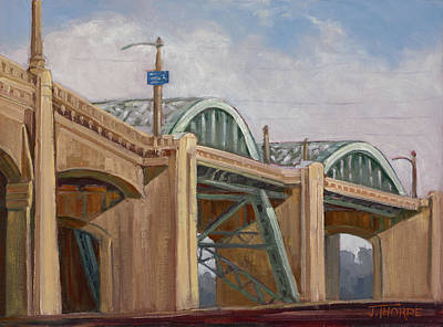 Rivets Painting - Sixth Street Bridge by Jane Thorpe