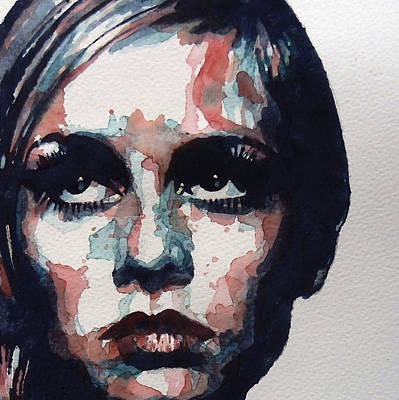 Watercolor Portraits Painting - Sixties Sixties Sixties Twiggy by Paul Lovering