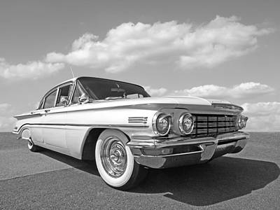 Photograph - Sixties Style - Oldsmobile In Black And White by Gill Billington