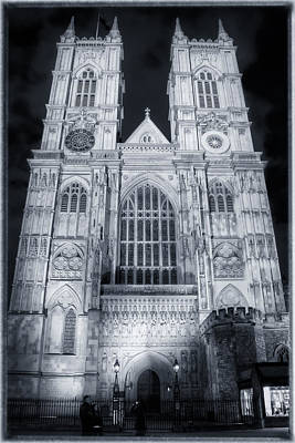 Westminster Abbey Photograph - Westminster Abbey Night by Joan Carroll
