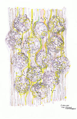 Drawing - Size Exclusion Chromatography by Regina Valluzzi