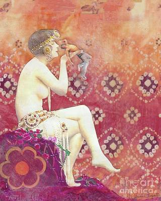 Art Print featuring the mixed media Size Matters Da by Desiree Paquette
