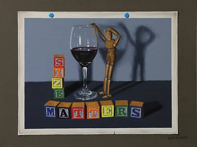 Manikins Painting - Size Matters by Tom Swearingen
