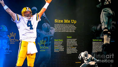 Dash 9 Photograph - Green Bay Packers Size Me Up Hand Span Speed And Vertical Leap by Stephanie Forrer-Harbridge