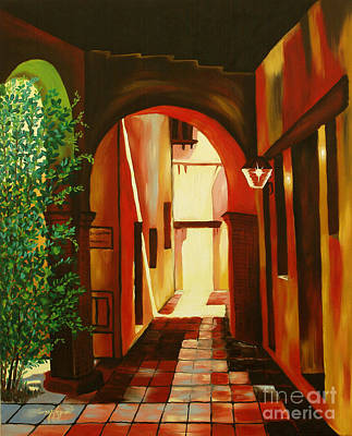 Painting - S.j. Capistrano Mission by Milagros Palmieri