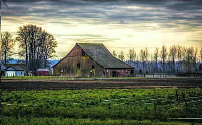 Photograph - Skagit Barn II by Steph Gabler