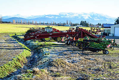 Photograph - Skagit Farm Equipment by Tom Cochran
