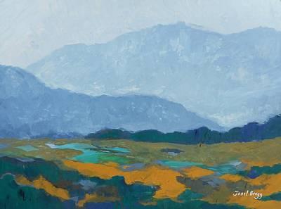 Washington State Skagit County Painting - Skagit Flats In Casein by Janel Bragg