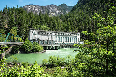 Photograph - Skagit River And Gorge Power House by Tom Cochran
