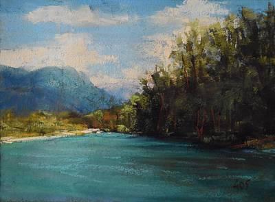 Skagit Painting - Skagit River Beach by Alejandra Gos