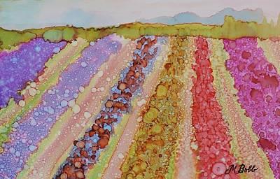 Skagit Painting - Skagit Tulip Fields by Margaret Bobb