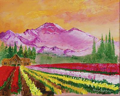 Painting - Skagit Tulip Fields by Sherry Shipley