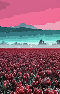 Painting - Skagit Valley At Sunset by Andrea Mazzocchetti