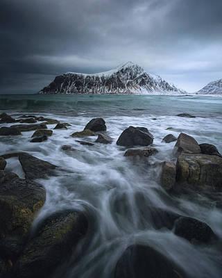 Dramatic Photograph - Skagsanden Beach by Tor-Ivar Naess