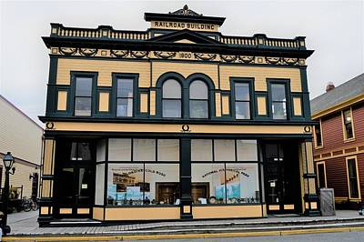 Photograph - Skagway Railway Building by Cheryl Hoyle