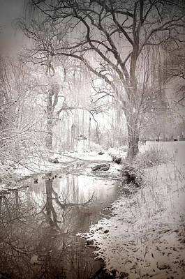 Skaha Park In Winter Art Print