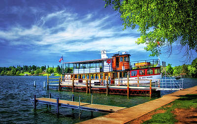 Skaneateles Lake Cruise Boat Art Print