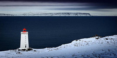 Photograph - Skardsviti Lighthouse, Iceland by Peter OReilly