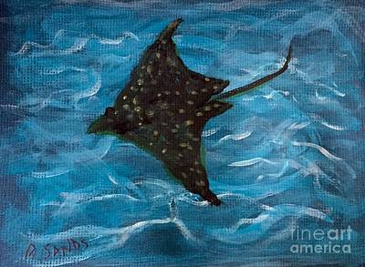 Painting - Skate In The Ocean by Anne Sands