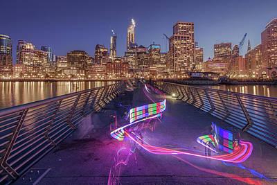 Photograph - Skate Night by Laura Macky