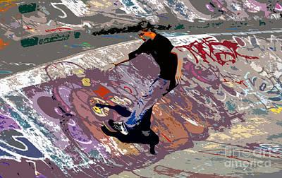Skate Park Art Print by David Lee Thompson