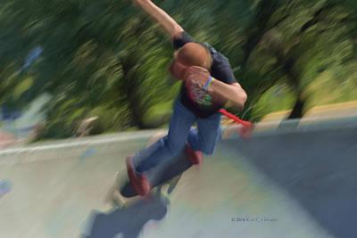Skateboard Action Art Print