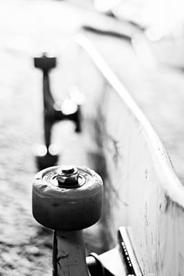 Skateboard Dof Print by John Akin