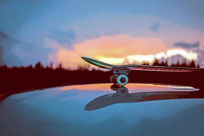 Skateboard Painting - Skateboard Reflections by Elaine Plesser