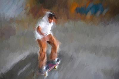 Photograph - Skateboarder Abstracted by Alice Gipson