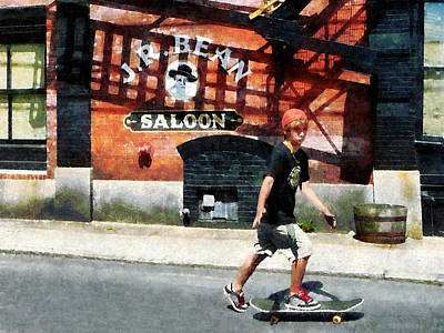 Photograph - Skateboarder In Bristol Ri by Susan Savad