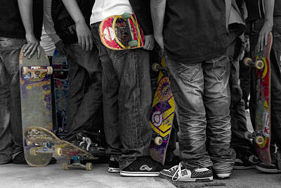 Jean Photograph - Skateboarders by Stelios Kleanthous