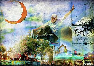 Photograph - Skateboarding, Bowlriders, Skateboarder,red Bull 1 by Jean Francois Gil