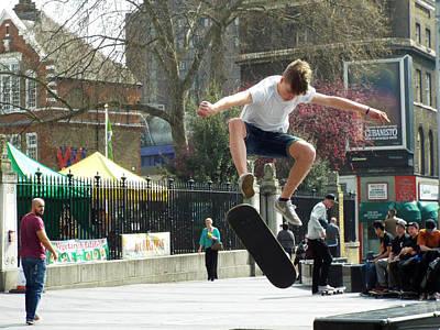 Photograph - Skateboarding by Judi Saunders