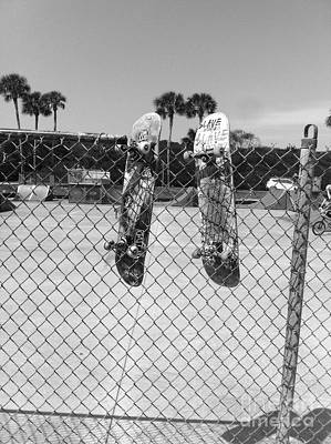 Photograph - Skateboards Hanging Out by WaLdEmAr BoRrErO